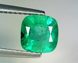 "1.35 ct ""Top Grade Gem"" Fantastic Cushion Cut Natural Emerald"