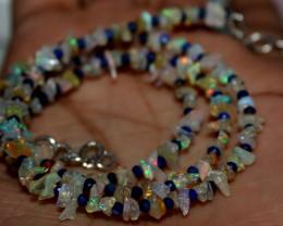 27 Crt Natural Ethiopian Welo Fire Uncut Opal & Lapis Lazuli Beads 8