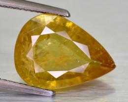 4.50 Cts Beautiful Pear Cut Yellowish Sphene -Africa