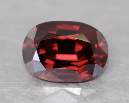 Vivid red natural Mahenge garnet.