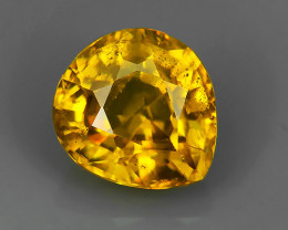 1.50~CTS MARVELOUS JEWELERS DREAM PEAR NATURAL ELONGATED YELLOW SPHENE NR!