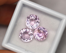 7.20cts Natural  Vivid Pink Kunzite 3 Pcs Lot /01