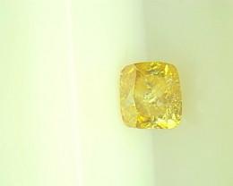 0.26ct  Fancy Intense brownish Yellow Diamond , 100% Natural Untreated