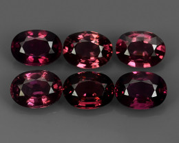 6.15 CTS MAGNIFICENT NATURAL RARE TOP QUALITY  PURPLE-PINK RHODOLITE SEMI-P