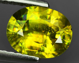 1.30 CTS EXQUISITE NATURAL UNHEATED GREENISH-YELLOW COLOR SPHENE MADAGASCAR