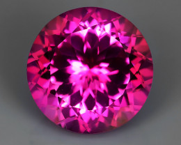 6.40 CTS SUPERIOR! TOP 10.95 ROUND CUT HOT PINK-TOPAZ GENUINE NR!!