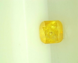 0.30ct  Fancy Vivid Yellow Diamond , 100% Natural Untreated