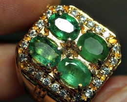 52.75CRT AMAZING PAIR EMERALD GREEN ZAMBIA ZIRCONIA
