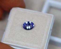 0.88Ct Violet Blue Tanzanite Oval Cut Lot B339