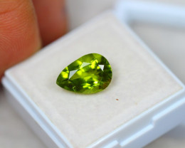 3.87Ct Natural Green Peridot Pear Cut Lot B2609