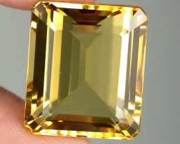 17.00ct BRIGHT GOLDEN YELLOW TONED CITRINE  -