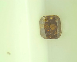 0.22ct Fancy Dark Yellow Brown  Diamond , 100% Natural Untreated