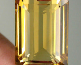 23.90ct RICH GOLDEN YELLOW TONED CITRINE  -