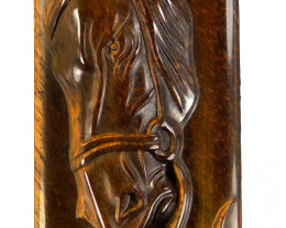 Stunningly beautiful fine grade Tiger's eye Horse Carving