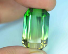 Flawless Clarity 60.90 ct AAA Grade Bi Color Tourmaline Great Hue and Luste