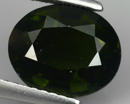 3.35 CTS~EXCELLENT NATURAL DARK GREEN TOURMALINE OVAL~ NR!!