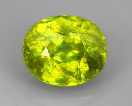 2.80 CTS~EXCELLENT NATURAL GREENISH-YELLOW SPHENE OVAL~ NR!!