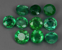 ~EXCELLENT~NATURAL EMERALD ~ ROUND  ~ NICE QUALITY GOOD COLOR ~