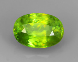 1.25 Cts Natural Intense Beautiful Green Sphene Oval Shape Madagascar!!