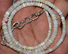 36 Crt Natural Ethiopian Welo Fire Opal Beads Necklace