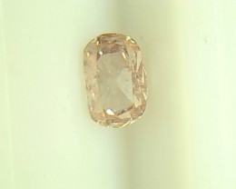 0.30cts Fancy Light Brown Pink  Diamond  ,100% Natural  Untreated