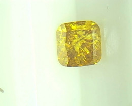 0.39cts Fancy Vivid Brown Yellow Diamond , 100% Natural Untreated