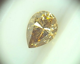 0.57cts Fancy Deep yellowish Brown Diamond  , 100% Natural Untreated