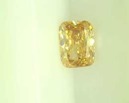 0.23ct  Fancy Brown Yellow Diamond , 100% Natural Untreated
