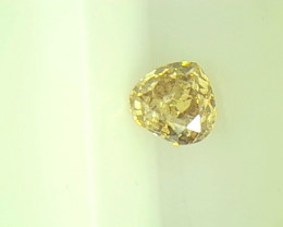 0.17ct Fancy yellow Brown Diamond , 100% Natural Untreated