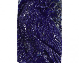 Beautiful Eagle Carved Cameo Focal Pendant Stone in Lapis Lazuli 130.00cts