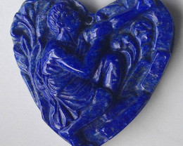 Classical Carved Cameo (Large) Drilled at the top Lapis Lazuli Focal Pendan
