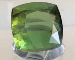 Very Luminous Vivid Green Cushion Cut 4.10 ct Tourmaline - Afghanistan G538