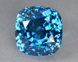 14.59 Cts Wonderful Sparkling Lustrous Natural Blue Zircon