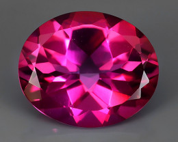 4.85 CTS SUPERIOR! TOP OVAL CUT HOT PINK-TOPAZ GENUINE NR!!