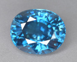 13.26 Cts Gorgeous Beautiful Natural Cambodian Blue Zircon