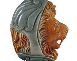 Premium Succor Creek Carved Cameo Focal Pendant Stone of a Lion 155.00cts C