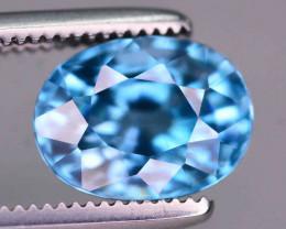 AAA Brilliance 2.60 ct Blue Zircon Cambodia