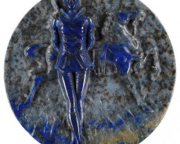 """The Performer"" Carving in Lapis Lazuli Ca"