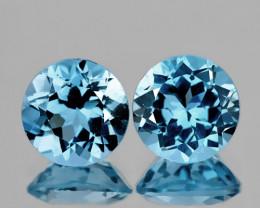 9.00mmDazzling Jewellery Grade Sky Blue Topaz Pair Jewellery grade