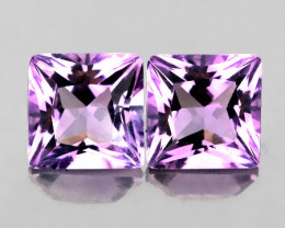 ⭐TOP VIOLET SHINING AMETHYST PAIR - VVS -  6.00mm