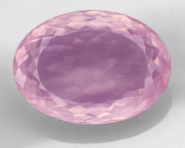 Huge 72Ct Pink Rose Quartz  Master Cut Gemstone Top Quality