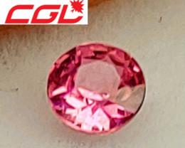 CGL-GRS  Cert. Unheated Neon-Pink Sapphire (Kenya)