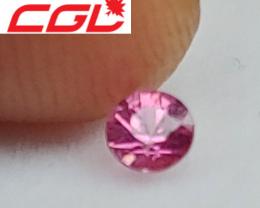 CGL-GRS  Cert. Custom Cut Pink Sapphire (Baringo Lake, Kenya)