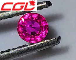 NR! CGL-GRS BEST COLOR ON EARTH! VIVID NEON Pink Sapphire VVS+