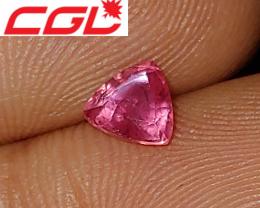 CGL-GRS  Cert. Unheated Pinkish-Orange Padparadscha Sapphire (Kenya)