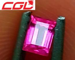 CGL-GRS  Cert. Unheated VIVID Pinkish-Purple Sapphire (Baringo, Kenya)