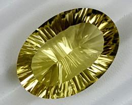 27.40Crt Lemon Quartz Special Cut  Best Grade Gemstones JI145