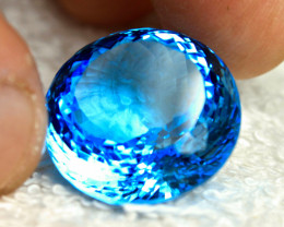 CERTIFIED - 41.05 Ct. Brazil Blue VVS Topaz - Gorgeous