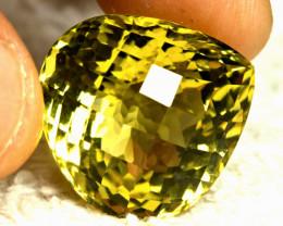 CERTIFIED - 41.76 Ct. African VVS Lemon Quartz - Gorgeous