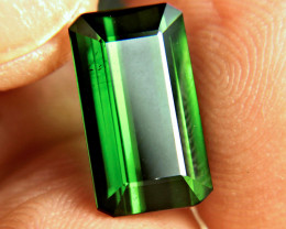 5.39 Carat Elegant VS Green Nigerian Tourmaline - Gorgeous
